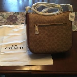 Coach BRAND NEW Tan/Brown Chaise CrossBody Handbag